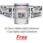 12 Cans Alpha Lipid Colostrum 1 Free
