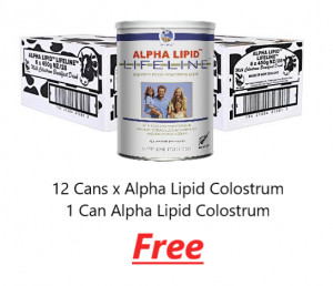 12 Cans Alpha Lipid Colostrum 1 Free